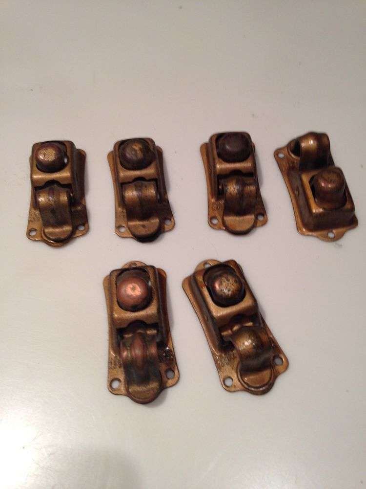 RARE Vintage 6 Church Pew Hooks Clamps Clips Hat Hanger