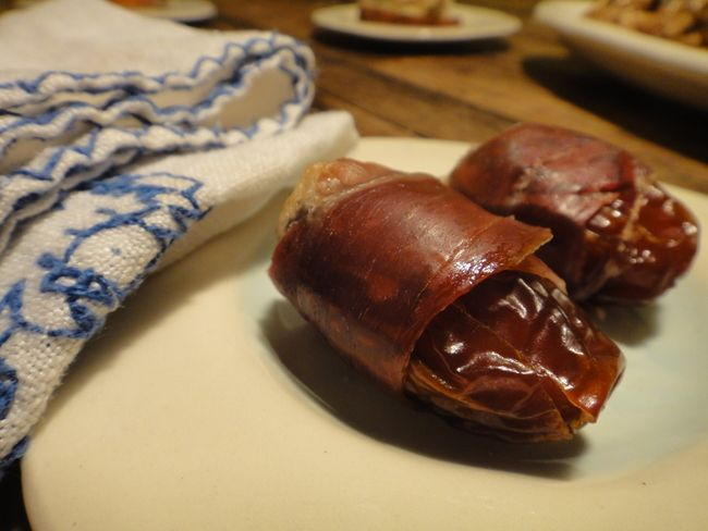 Pancetta-Wrapped Dates from Mom's Kitchen Handbook