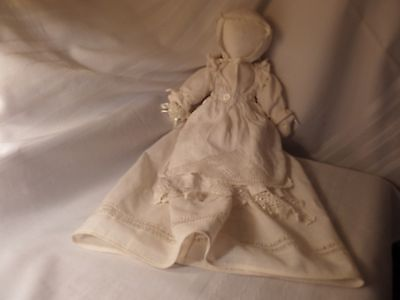 """Vintage PillowCase Crochet Lace Gown Hand Made Cotton Doll overall length 24"""""""
