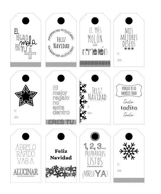 Etiquetas descargables para personalizar vuestros regalos for In regalo gratis