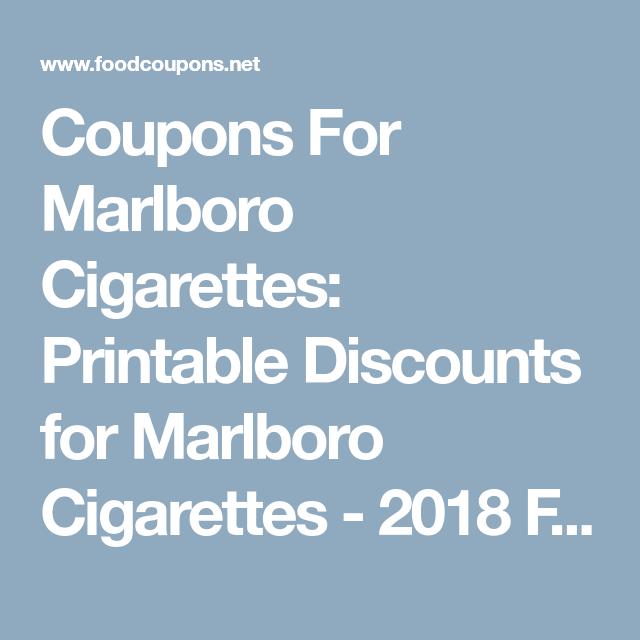 Coupons For Marlboro Cigarettes: Printable Discounts for Marlboro