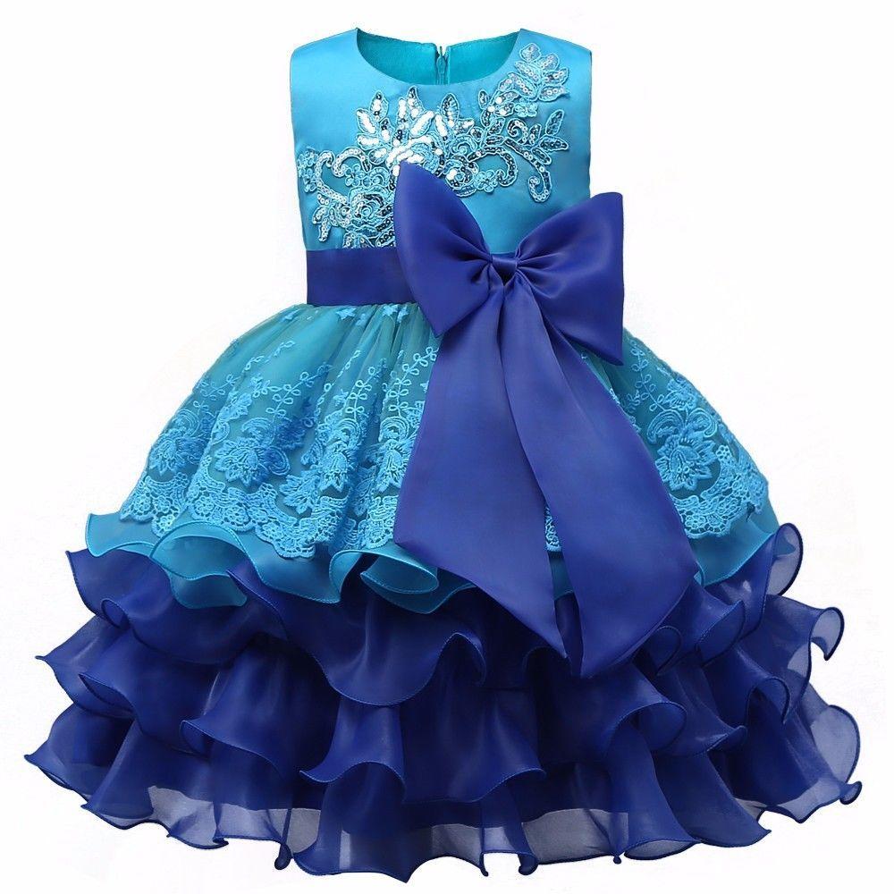 Kinder Kleid Partykleid Sommerkleid Kleid Pailettenkleid Gr. 122/128 ...
