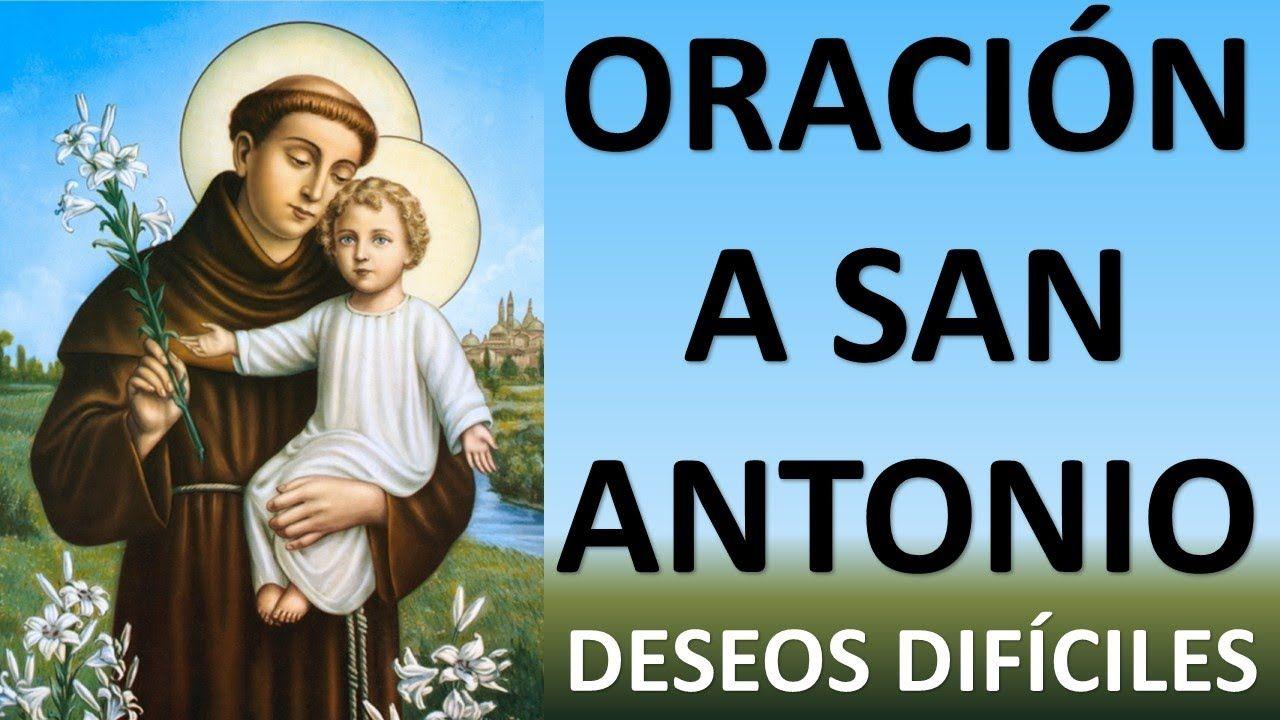 Oración A San Antonio De Padua Para Un Deseo Dificil 13 Min Con San A Oracion A San Antonio San Antonio De Padua San Antonio