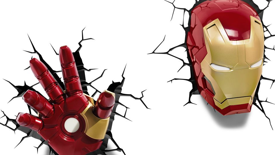 Iron Man 3 Hand 3d Deco Night Light 5 Superhero Bedroom