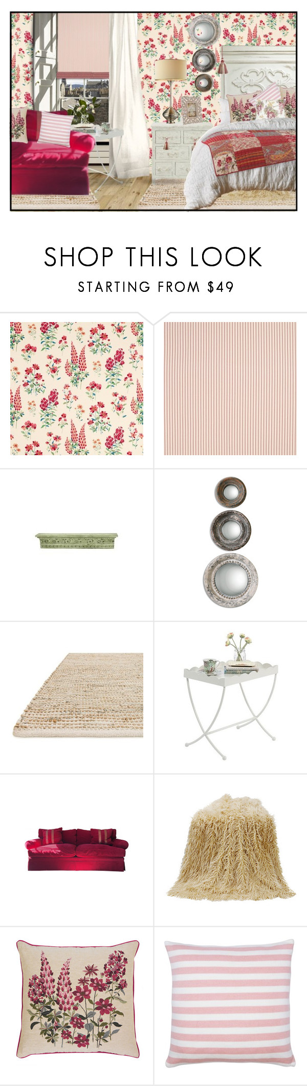 """Sin título #715"" by yblacasa ❤ liked on Polyvore featuring interior, interiors, interior design, home, home decor, interior decorating, Tela Beauty Organics, WALL, Loloi Rugs and Sauder"