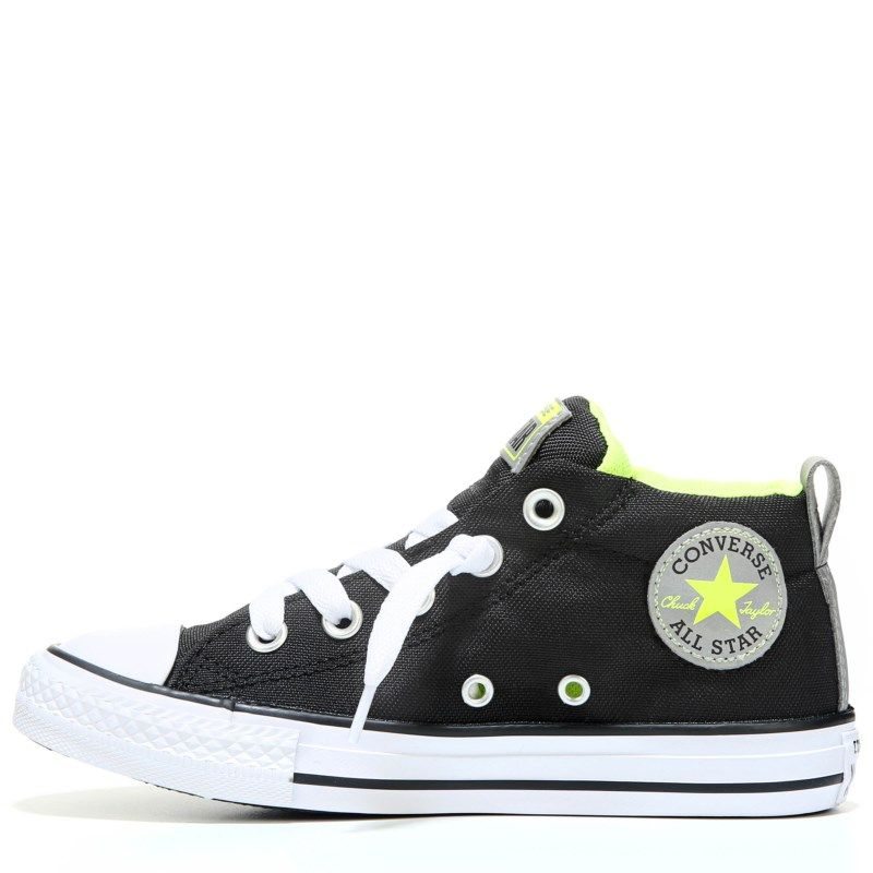 3bc01f3a400498 Converse Kids  Chuck Taylor All Star Street Mid Top Sneakers (Black Yellow)