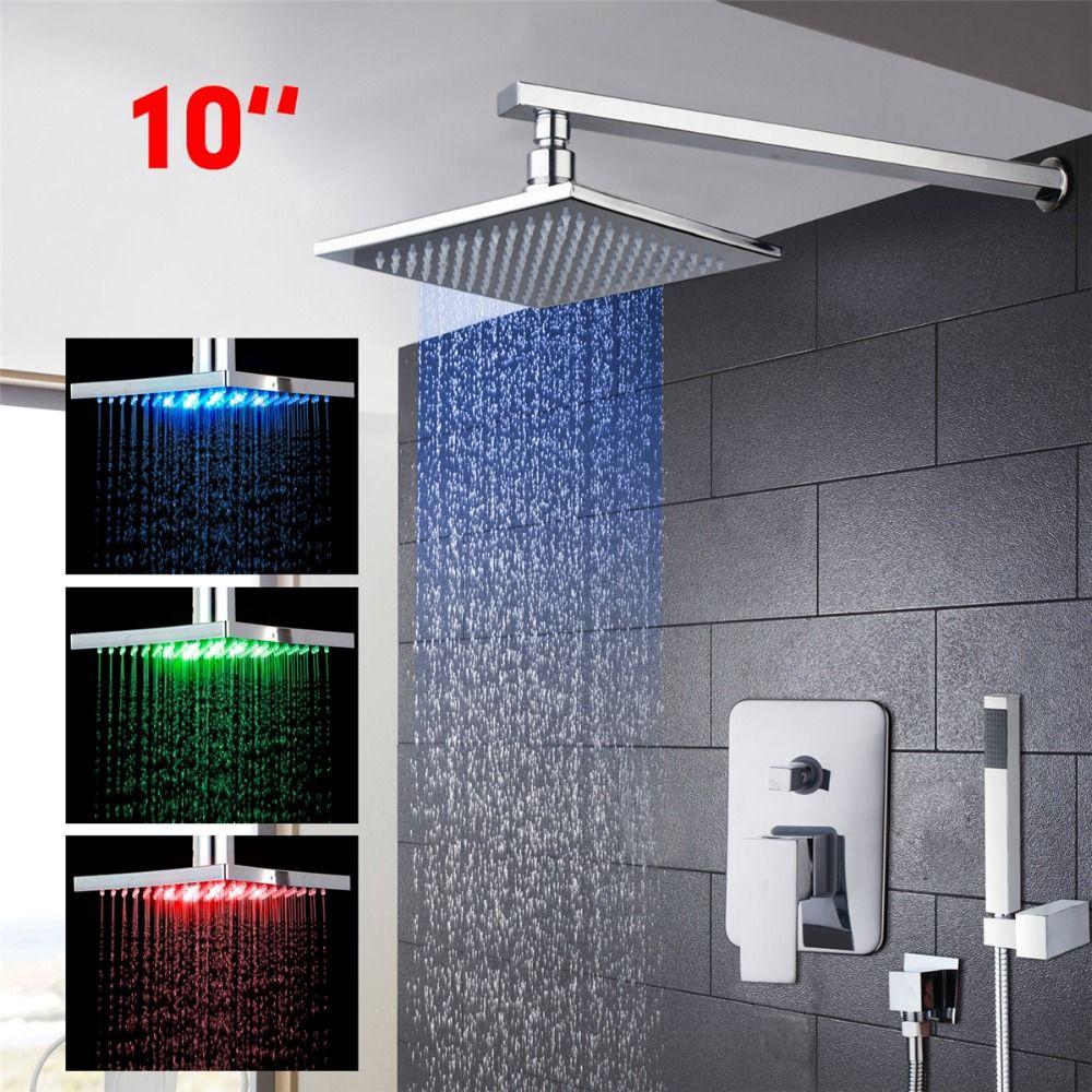 Brass Rainfall Waterfall Shower Head 10\