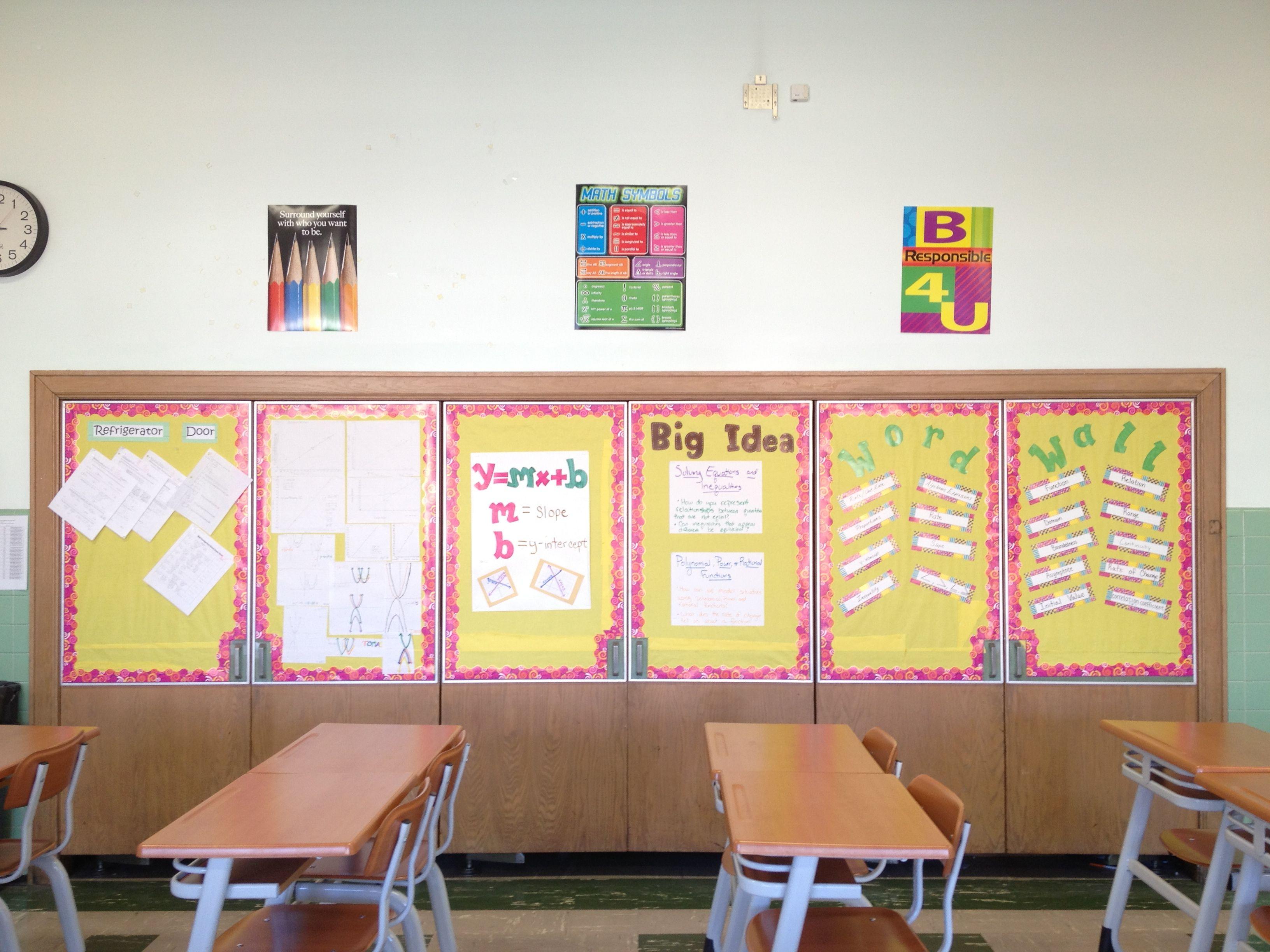 high school math classroom setup. | Math classroom ...