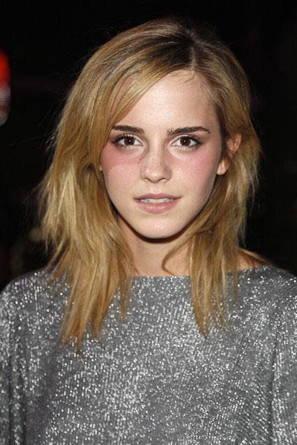 Emma Watson Shoulder Length Hair With Side Fringe Emma Watson Haare Haar Styling Coole Frisuren