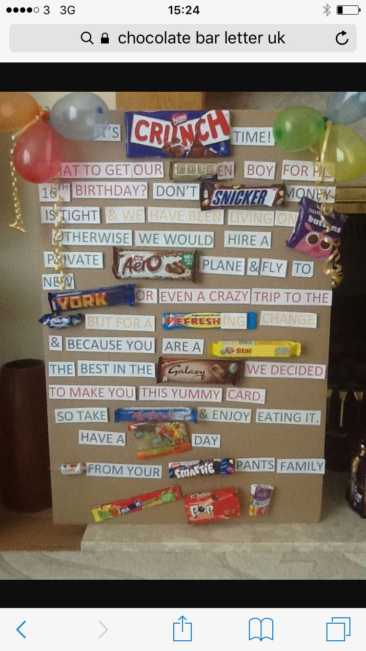 Pin By Susan Kirkness On 18th Birthday Chocolate Card Candy Bar