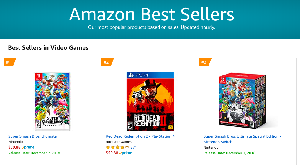 941616cb7dd Check out the Current Amazon Best Sellers in Video Games! Updated hourly!  Don t miss out on the top new games.  gaming  videogames  newgames   topgames ...