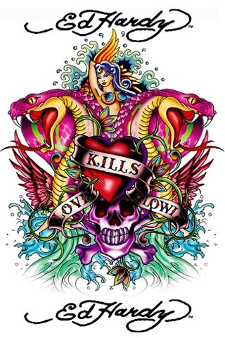 Ed hardy art ed hardy wallpaper computer pictures - Ed hardy designs wallpaper ...