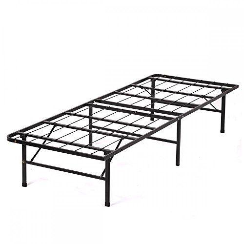 New Modern Bifold Folding Platform Metal Bed Frame Mattress