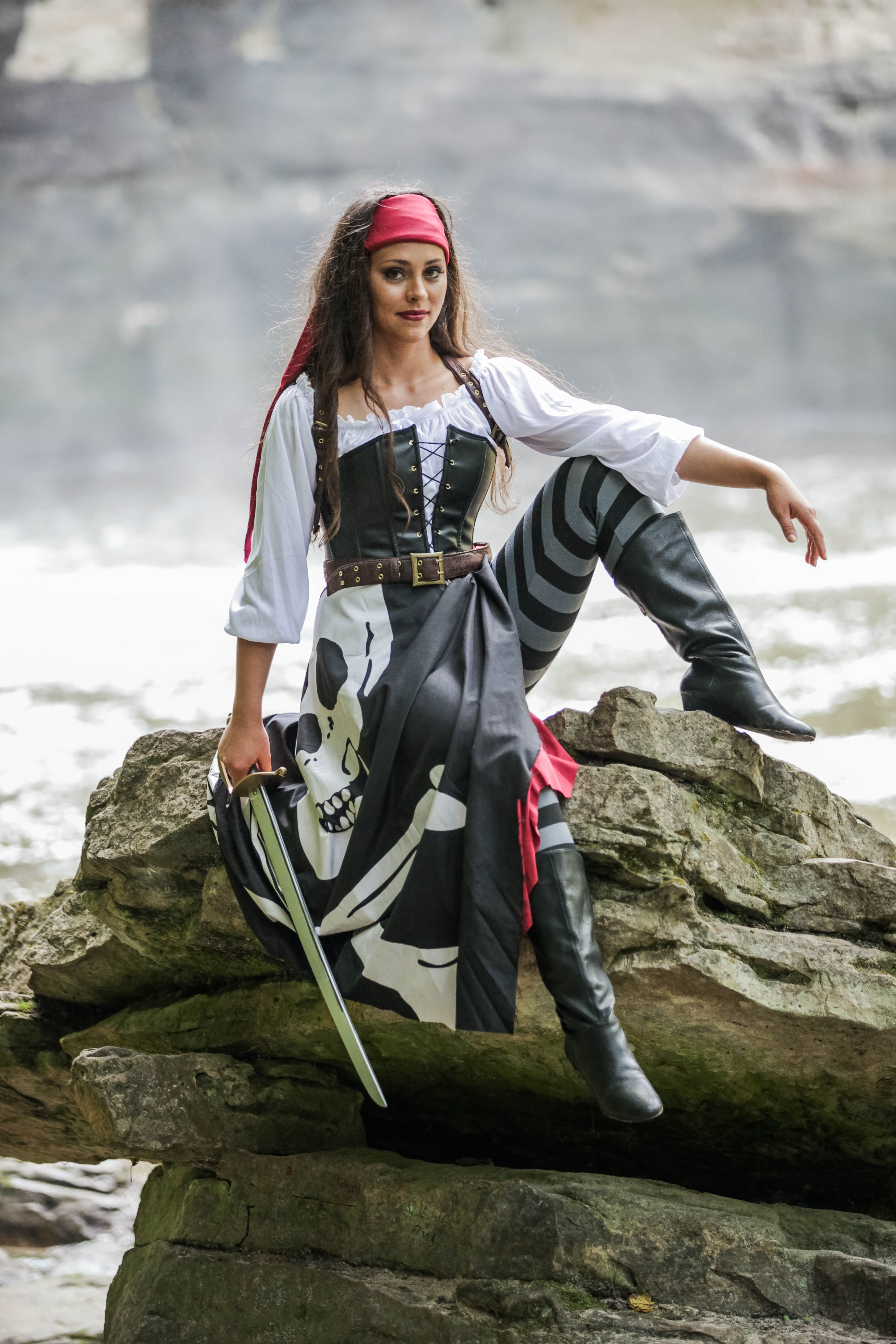 Fun Halloween costume idea- Sail the seven seas with our realistic womenu0027s pirate costume!  sc 1 st  Pinterest & Shop Halloween womenu0027s pirate costumes at RebelsMarket. | Halloween ...