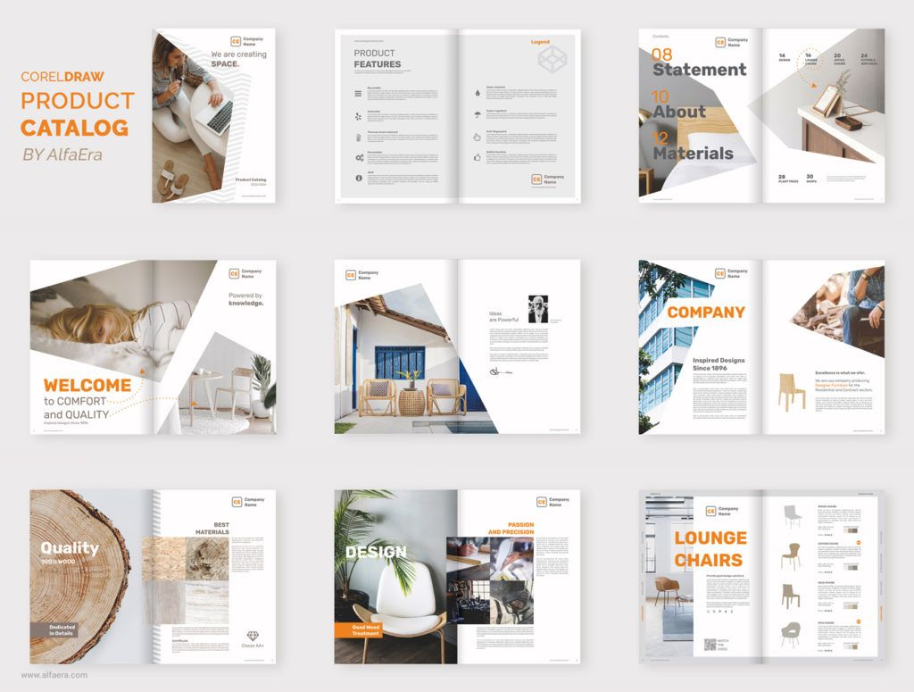 Product Catalog Brochure Template Coreldraw Alfaera Coreldraw Graphic Design Templates Free Brochure Template Brochure Design Template Catalog Design Layout