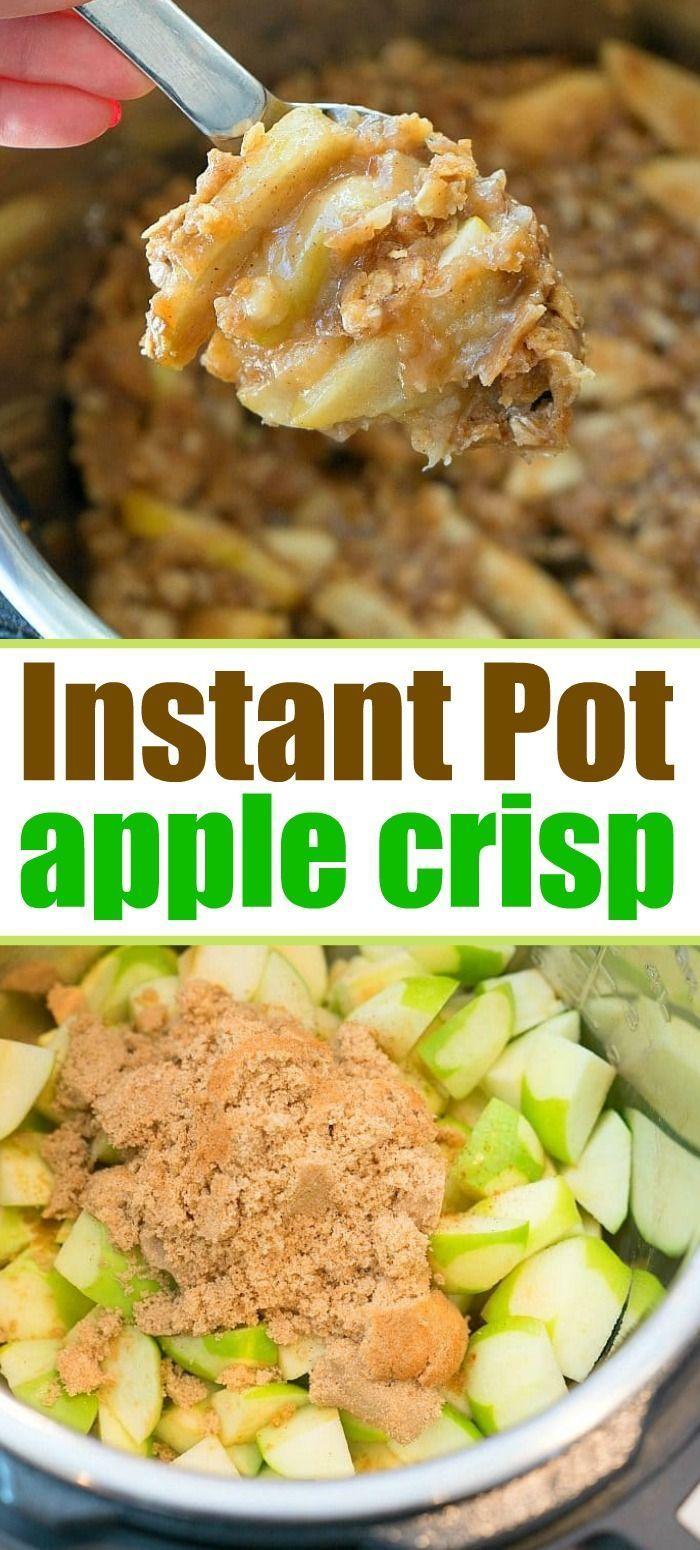 BEST Instant Pot Apple Crisp in Just ONE Minute!