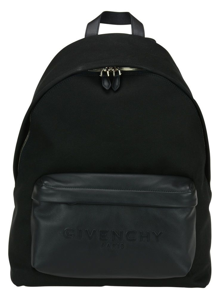 GIVENCHY LOGO BLACK LEATHER & CANVAS BACKPACK  BJ05763-577-001 #GIVENCHYRIDERSTAR #Backpack