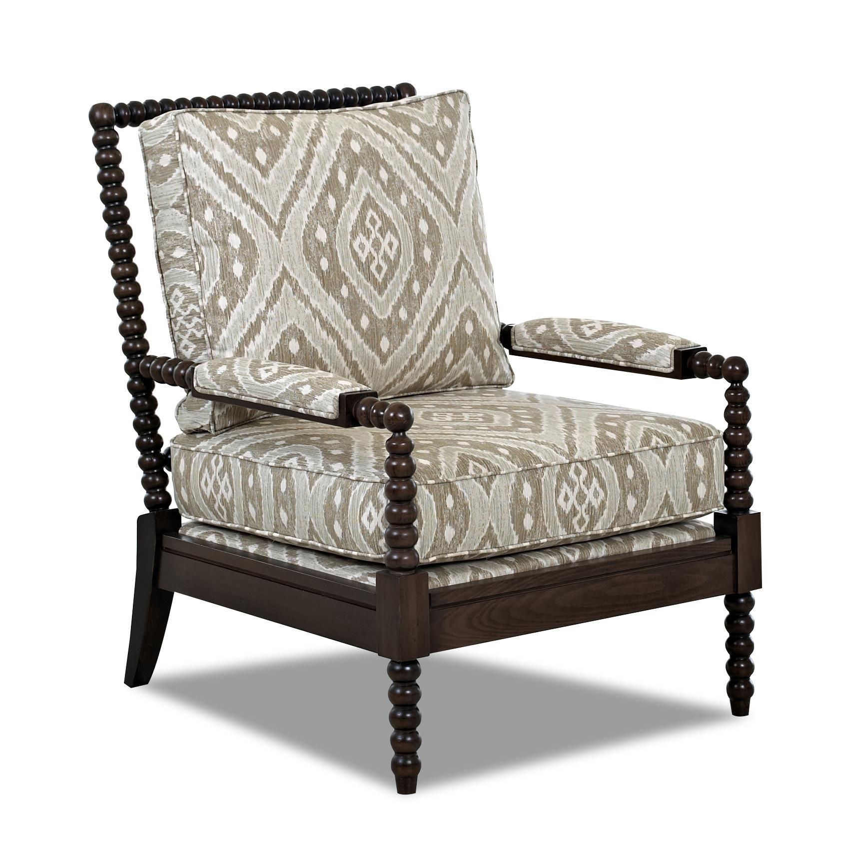 Chairs And Accents Rocco Accent Chair With Spool Turned