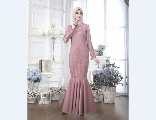 Model Kebaya Muslim Duyung Pink Kebaya In 2019 Model Kebaya