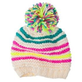 bb76faa85453c Cherokee® Girls  Stripe Beanie - Cream Multi...   Target Mobile ...