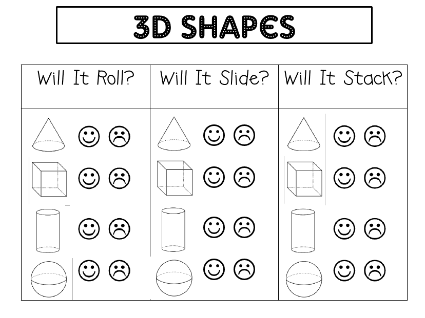 3d Shapes Pdf Google Drive Shapes Kindergarten Shapes Worksheet Kindergarten Math Geometry