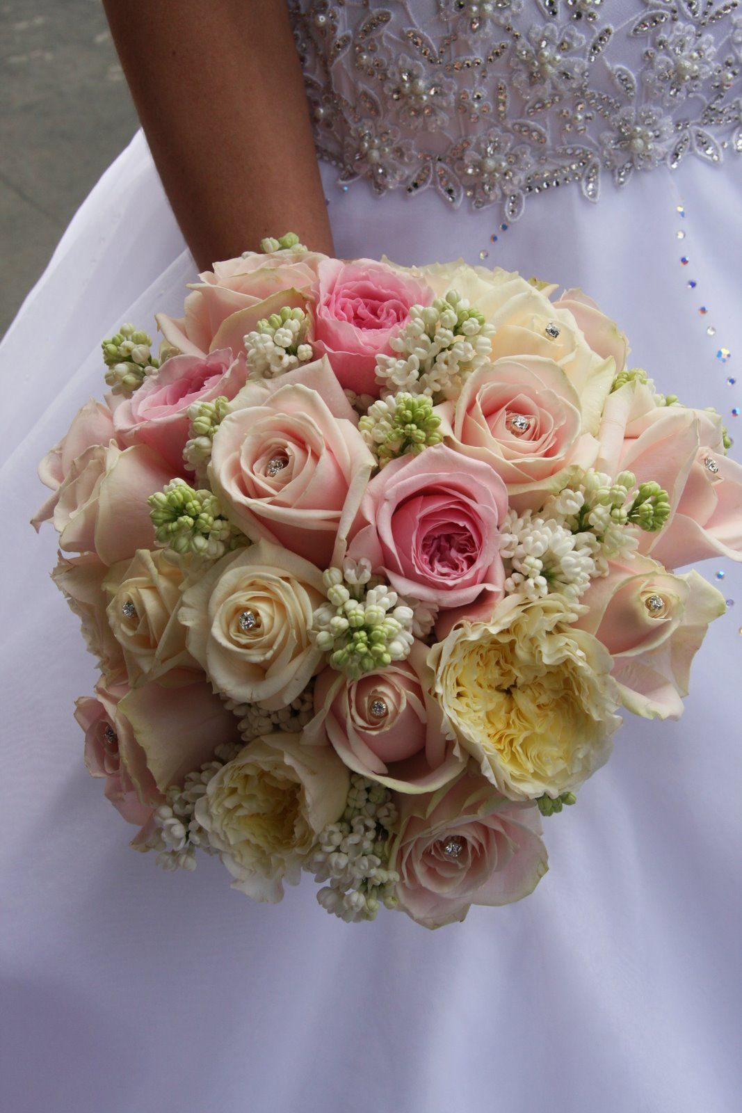 red and pink wedding flowers | The Flower Magician: Simple Cream & Pink Wedding Bouquet