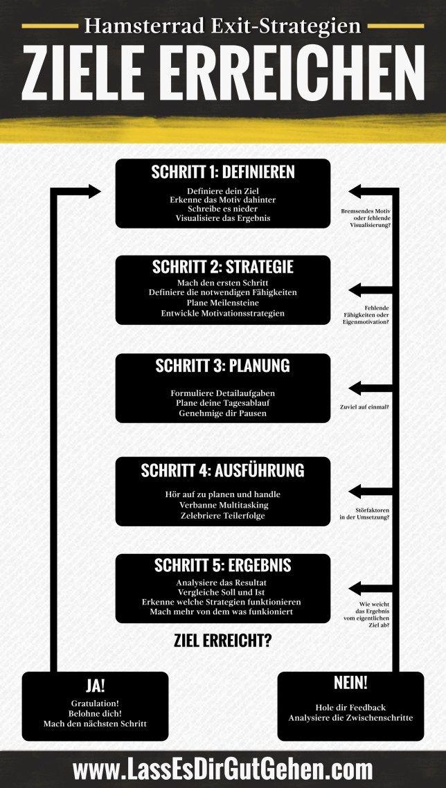 Infografik Ziele – Für die Lesefaulen unter uns #history
