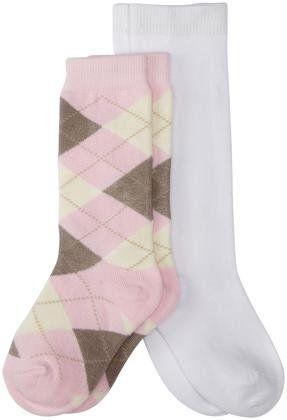 e20351650 Country Kids 2 Pack Argyle Knee Socks (Toddler Kid)-Pink White ...