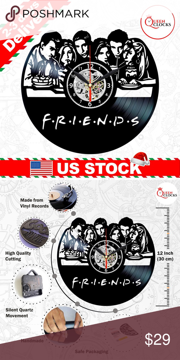 Friends Vinyl Clock Tv Show Wall Decor Women Gifts Vinyl Record Clock Nightmare Before Christmas Clock Biology Gift