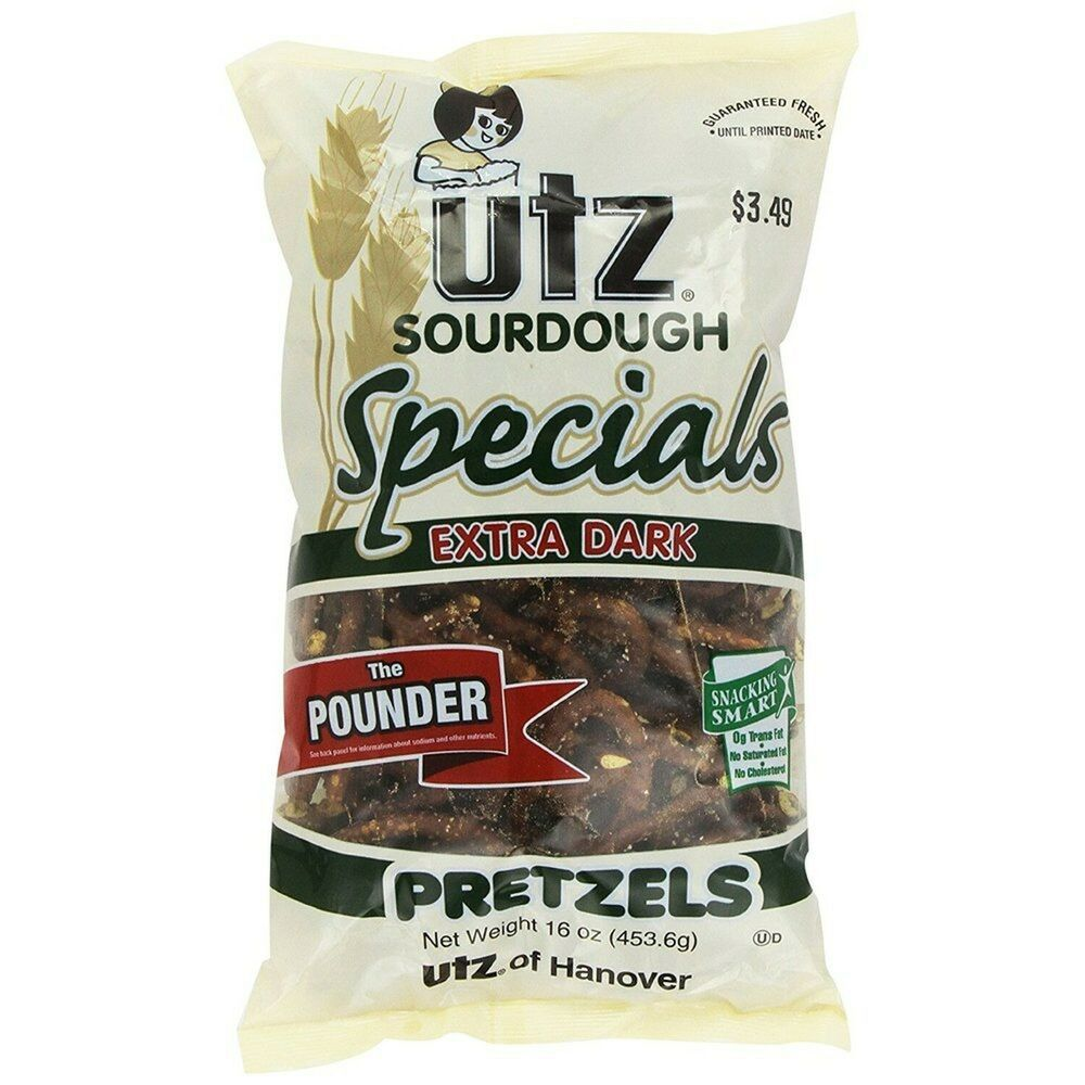 4 Bags Utz Select Butter Pretzels 12 oz Bag