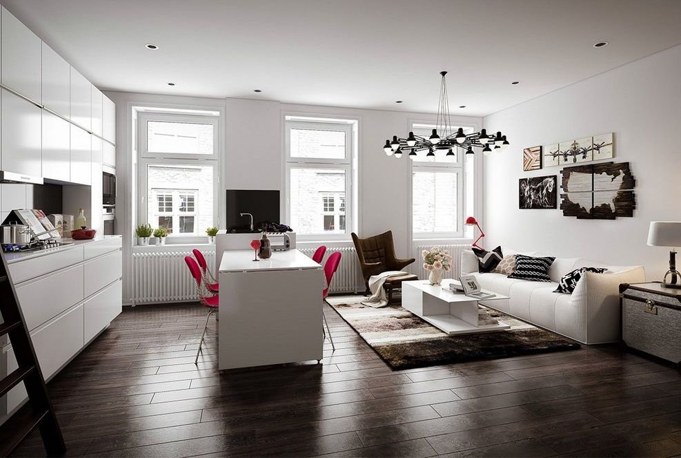 Dark Gray Wood Vinyl Flooring For Living Room Easy To Clean And