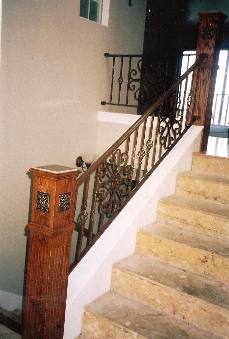 iron stair rails and banisters | Wrought Iron Stair ...