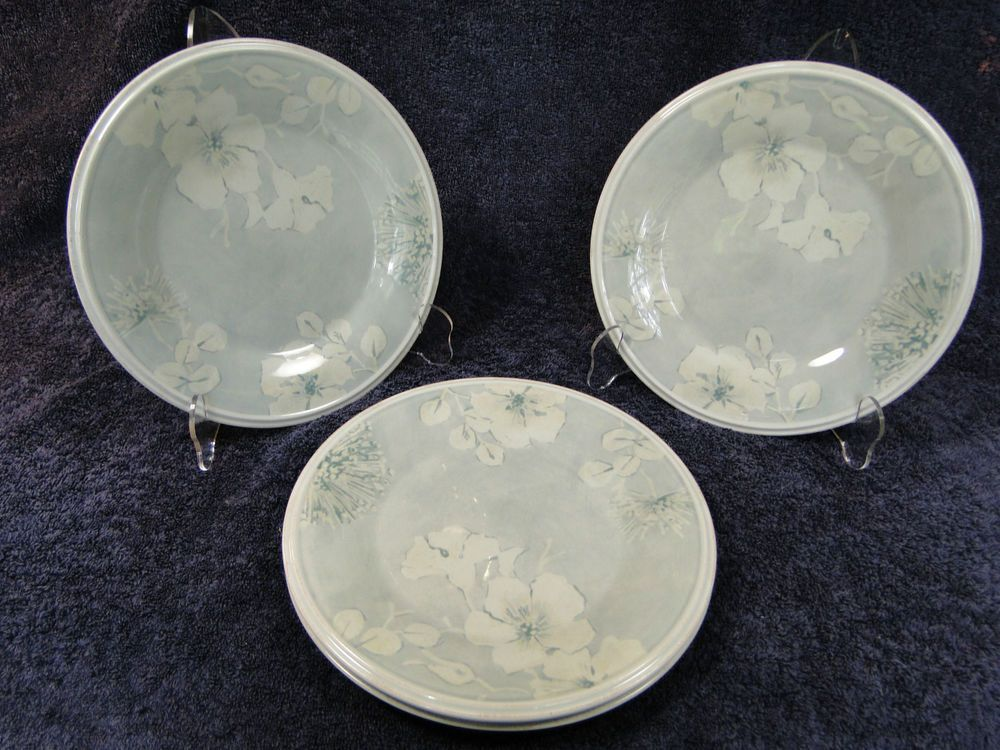 "Lenox Wedding Gifts: Lenox Dogwood 9 1/4"" Luncheon Plate FOUR 4 - NICE"