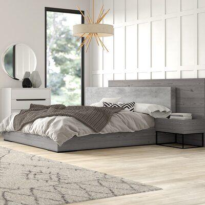 Best Mercury Row Mraz Platform 3 Piece Bedroom Set Platform 640 x 480