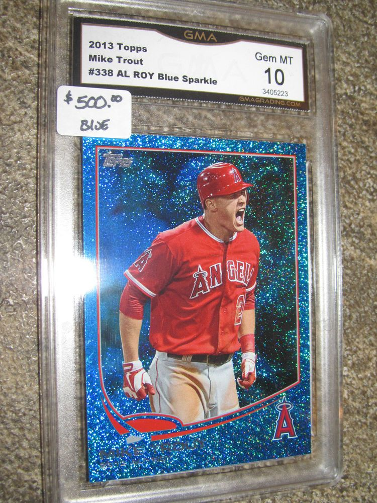 (500) Mike Trout RARE Rookie of Year BLUE SPARKLE