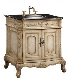 30 Inch Single Sink Furniture Style Bathroom Vanity With Cream