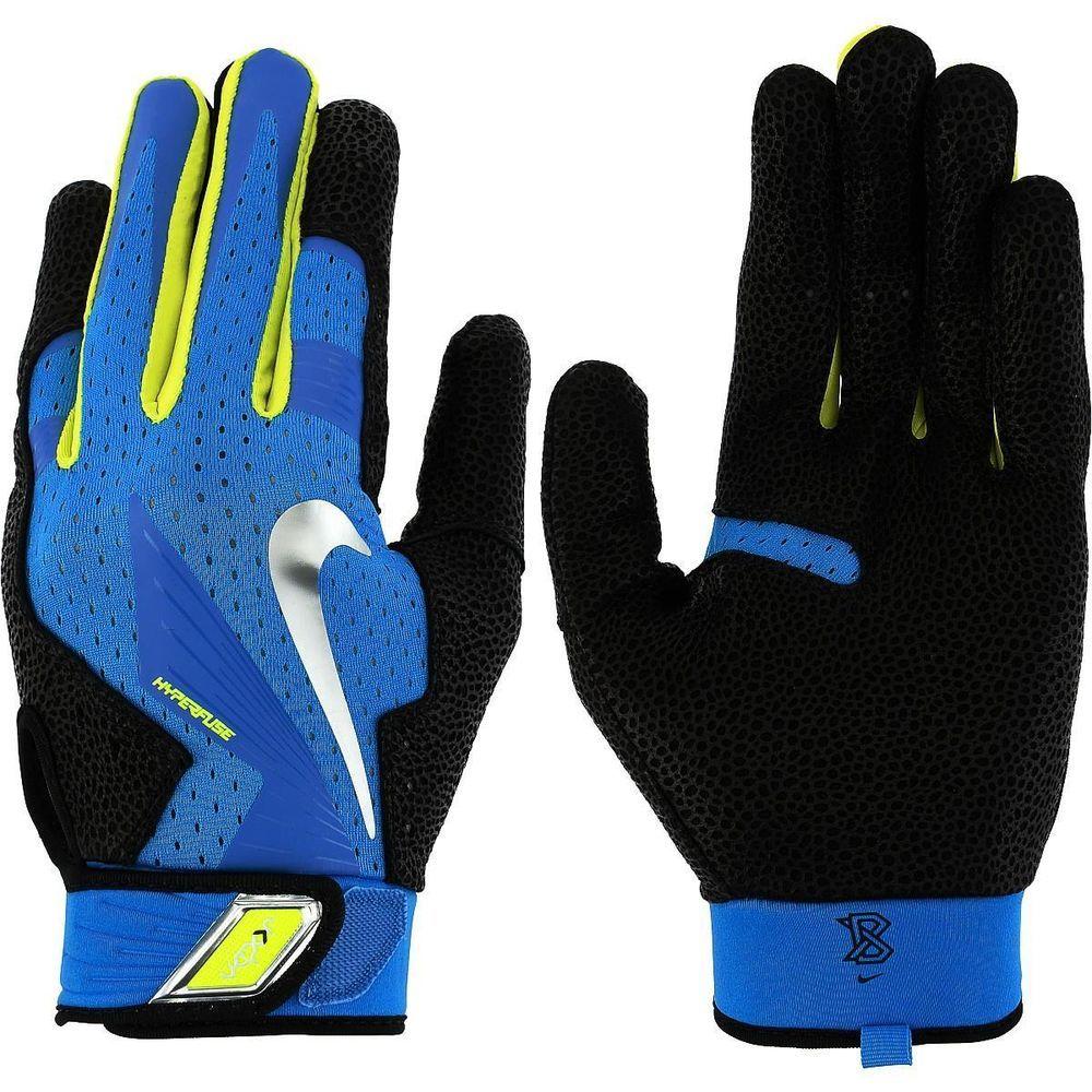Nike vapor elite pro leather batting gloves adult med blue