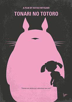 Chungkong Art - No290 My My Neighbor Totoro minimal movie poster