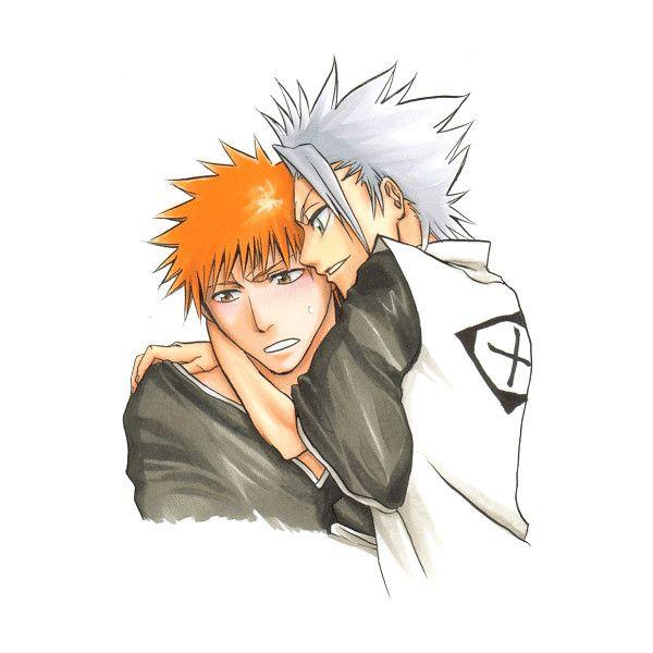 2boys Bleach Hitsugaya Toushirou Kurosaki Ichigo Male Orange Hair Liked On Polyvore Featuring Anime And Bleach Bleach Anime Bleach Anime Anime