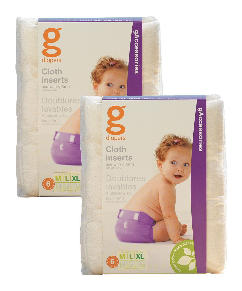 Medium//Large//X-Large gDiapers Disposable Inserts Case 13-36 lbs Pack of 4