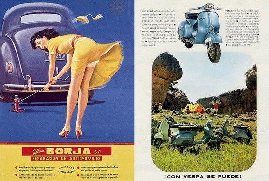 Talleres Borja de 1954 y motos Vespa, 1966