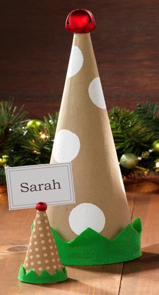 Elf Hat Paper Mache Cone Paper Mache Cone Paper Mache Christmas Paper Mache Crafts