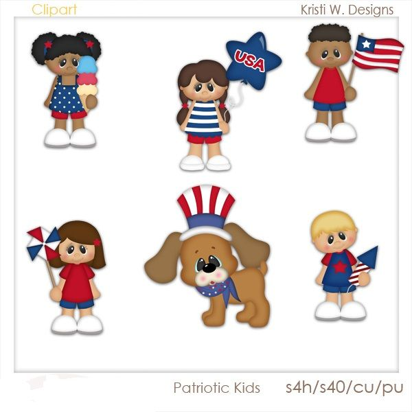 patriotic kids 1 00 4th of july pinterest summer clipart and rh za pinterest com scrapbooking clip art free scrapbooking clip art images pictures