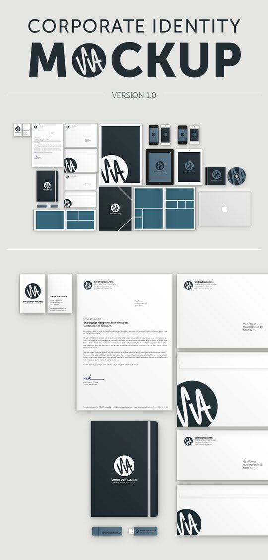 23 free sets of branding identity mockup templates psd to