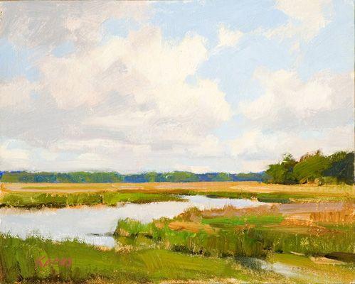 """Chechessee View"" by Michael B. Karas. Ah, calm serenity... #art #fineart…"
