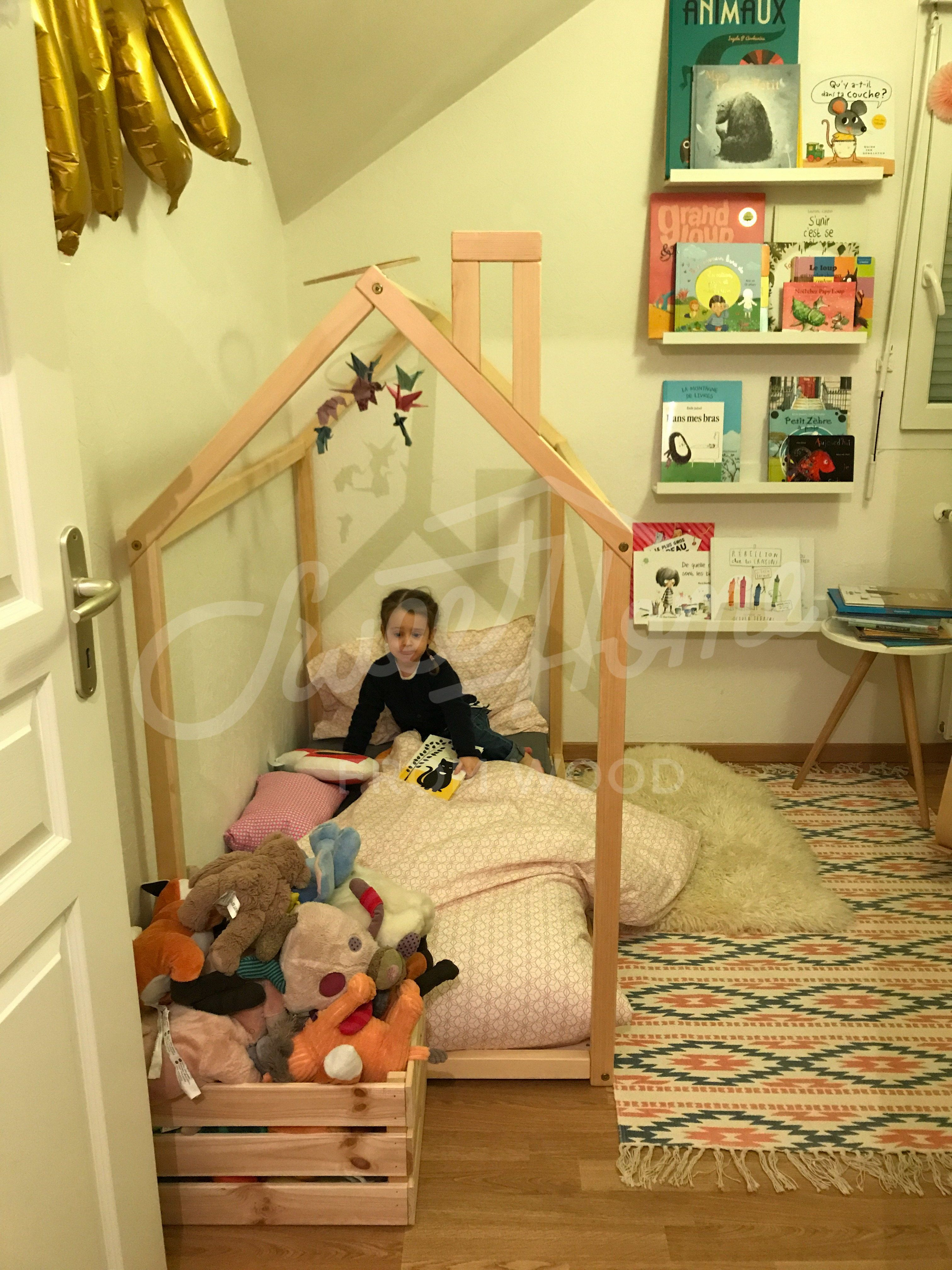 Toddler Bed House Bed Children Bed Wooden House Tent Bed Wood House Wood Nursery Kids Teepee Bed Wood Bed Frame Wood House Bed Kids Gift Kid Beds Bed Tent Kids Bed