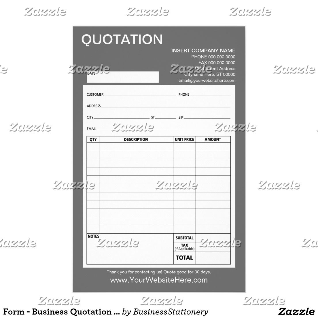 Form  Business Quotation Or Invoice  Deluxeforms  Great Office