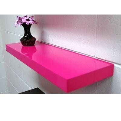 Floating Shelf Pink Gloss Ikea Lack Style Girls Room Shelving – Pink Bookcase Ikea