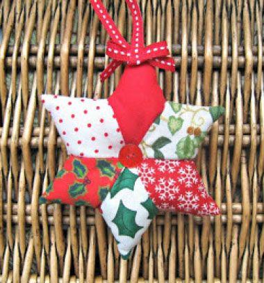 fe109906dd Patchwork karácsonyfadísz csillagok egyszerűen ( foltvarrás ) - Mindy /  Mindy - kreatív ötletek és dekorációk minden napra