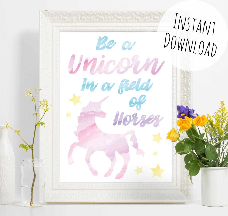 pretty unicorn print download watercolour effect art be a pretty unicorn print download watercolour effect art be a unicorn in a field of